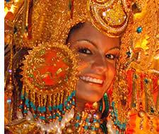 Eine Königin in Panama Karneval