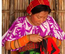 Kuna Frau einen mola