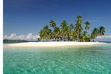De sable blanc dans les îles San Blas